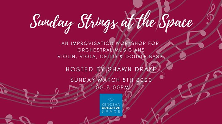 Sunday Strings Improv Workshop hosted by Shawn Drake